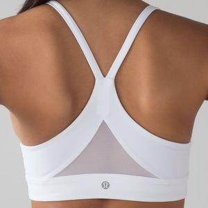 Lululemon white sports bra - size 8